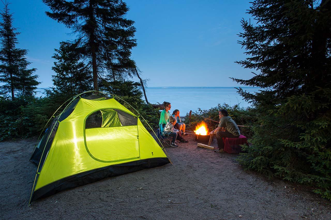 camping bienfaits et avantages pour la tête